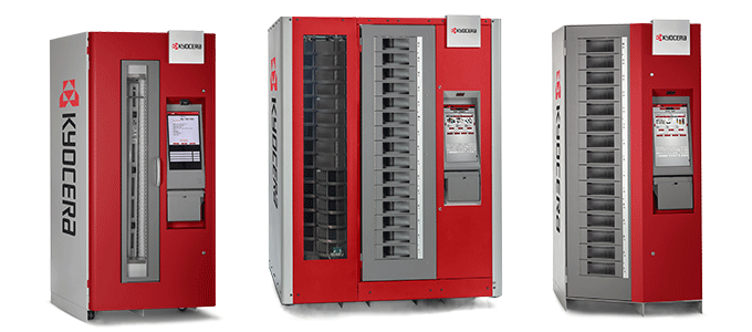 A selection of industrial vending solutions ( RoboCrib TX750, LX2000, VX500 / VX1000)