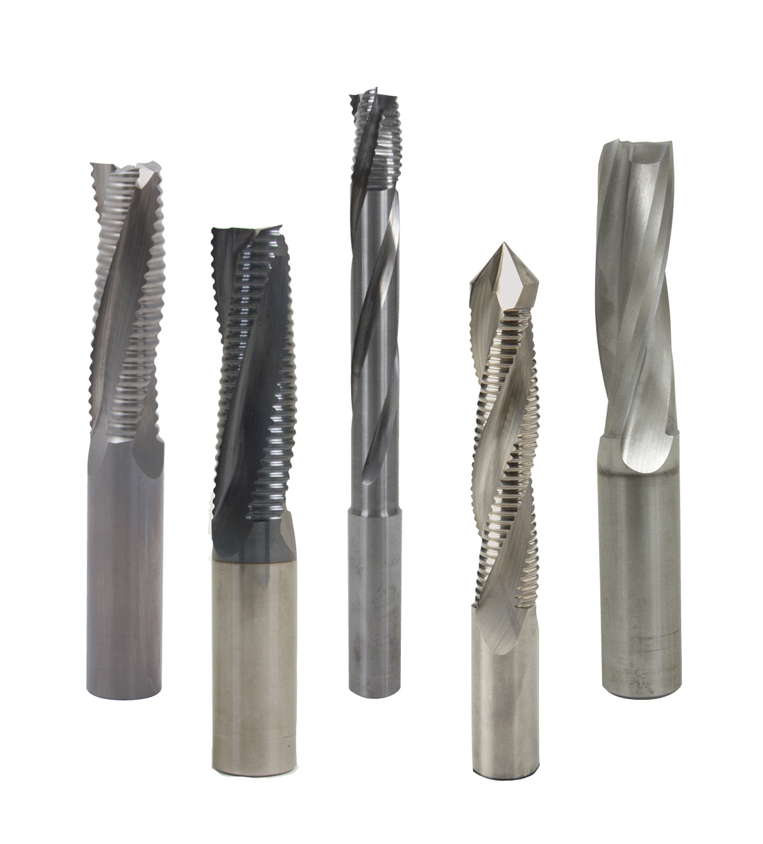 Solid carbide spirals